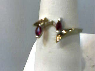 Ruby Lady's Stone Ring 10K Yellow Gold 1.5dwt Size:6