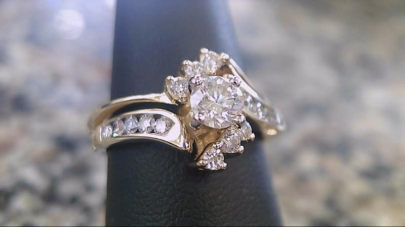 Lady's Diamond Wedding Set 17 Diamonds .41 Carat T.W. 14K Yellow Gold 4.3g