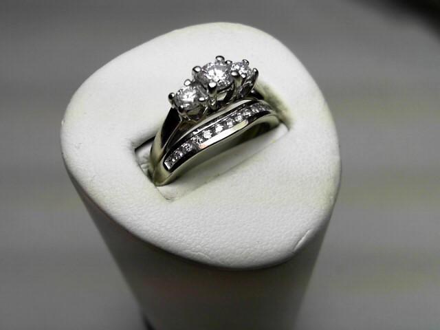 Lady's Diamond Wedding Set 16 Diamonds .58 Carat T.W. 14K White Gold 4.6g