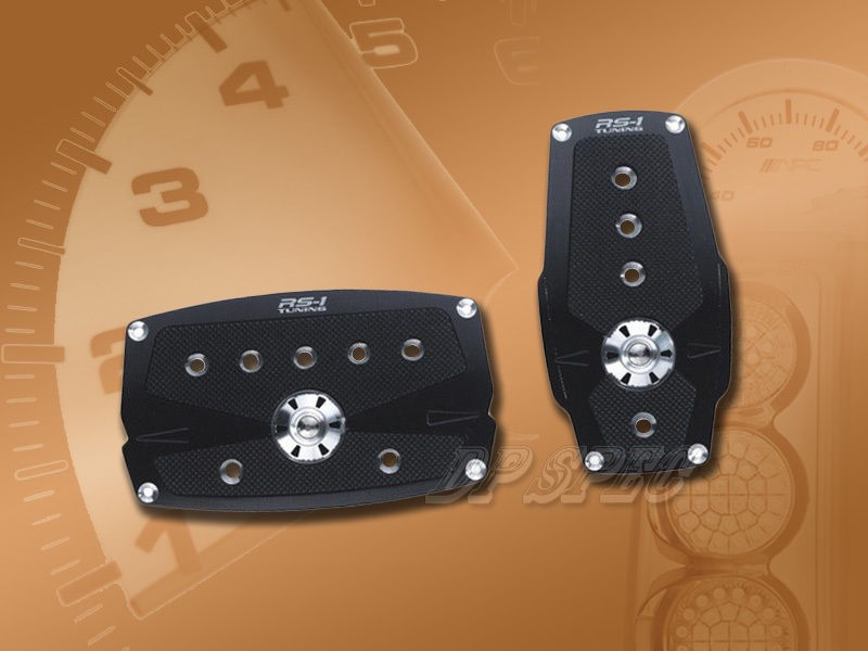 RS-1 Tuning Black Aluminum Automatic Racing Pedal Pad Set PM-242EP