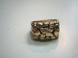 Gent's Gold Ring 14K Yellow Gold 10.1g Size:9