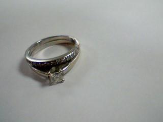 Lady's Diamond Wedding Set 14 Diamonds .38 Carat T.W. 14K White Gold 4g