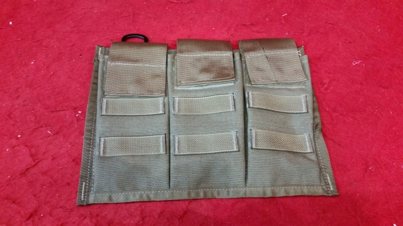 USMC AITES coyote tan Triple Bandolier pouch MOLLE