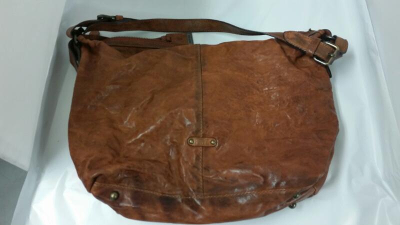 Frye Cameron Hobo Leather Handbag Purse (Brown/Cognac) w/ Dust Bag