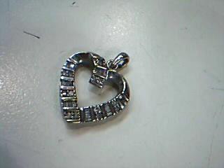 Gold-Multi-Diamond Pendant 32 Diamonds .32 Carat T.W. 10K White Gold 1.9g