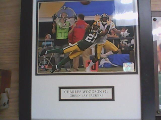 charles woodson framed photo