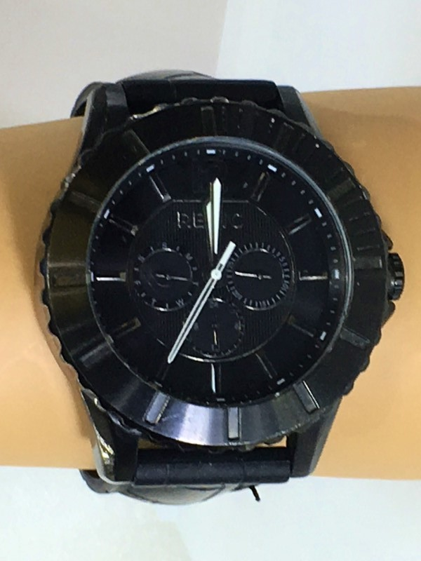 RELIC Men's Chronograph Black Face Adjustable Watch ZR156889
