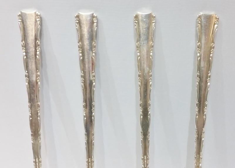 Lot of 4 Vintage Sterling Silver Madrigal By Lunt Dinner Forks c 1962