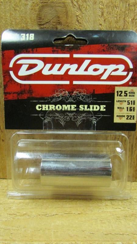 DUNLOP Musical Instruments Part/Accessory 318 CHROME SLIDE