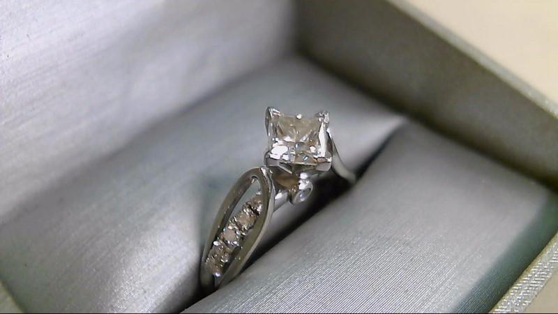 Lady's Diamond Engagement Ring 13 Diamonds 1.41 Carat T.W. 14K White Gold 4.9g