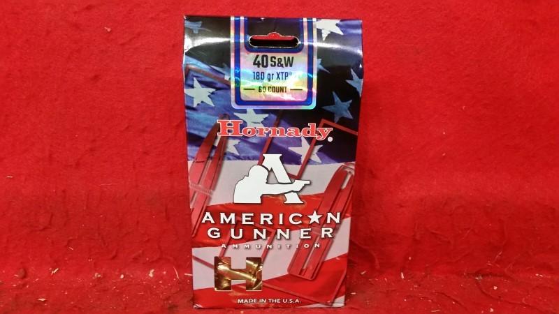 Hornady 40 s&w American Gunner 180gr XTP 60rd