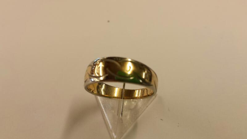Lady's Gold Ring 14K 2 Tone Gold 1.84dwt