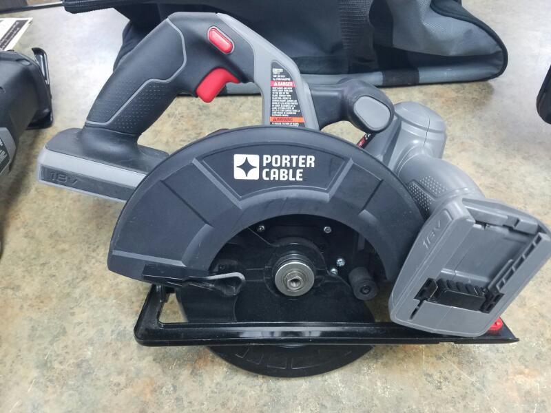 PORTER CABLE Combination Tool Set PC1800 4PC 18 VOLT SET