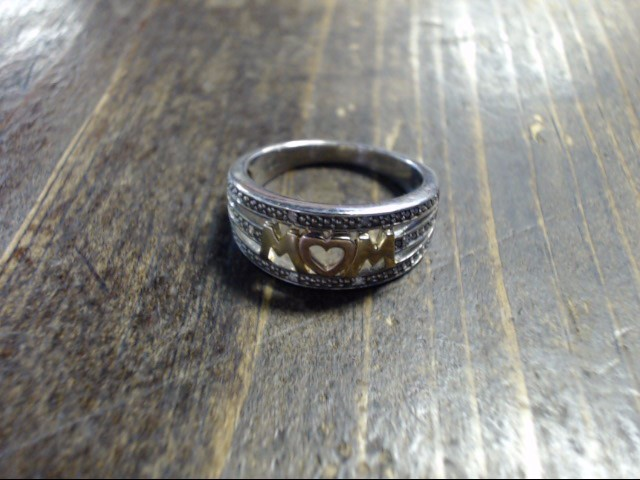 Lady's Silver Ring 925 Silver 6.8g Size:9
