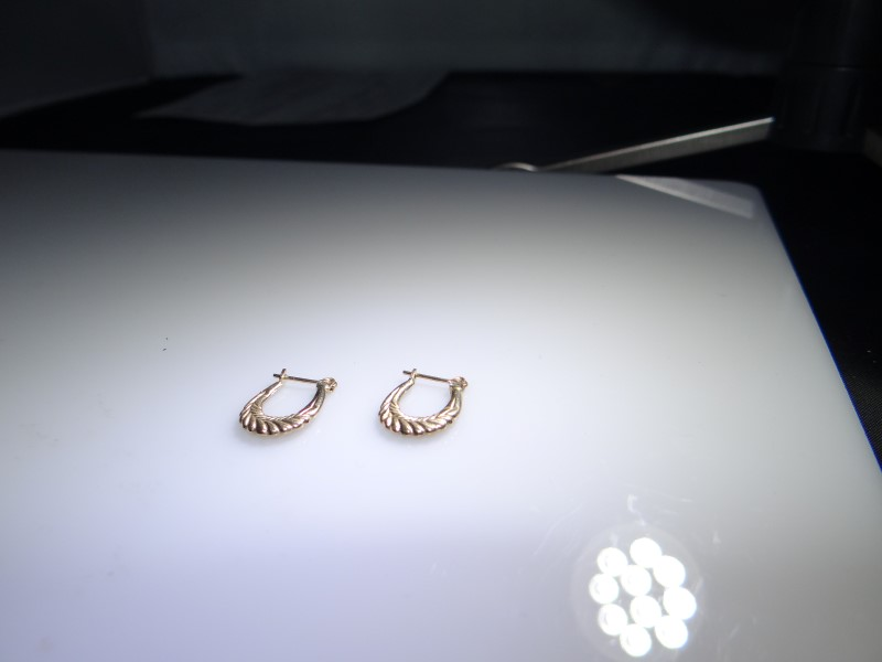 Gold Earrings 10K Yellow Gold 0.93g
