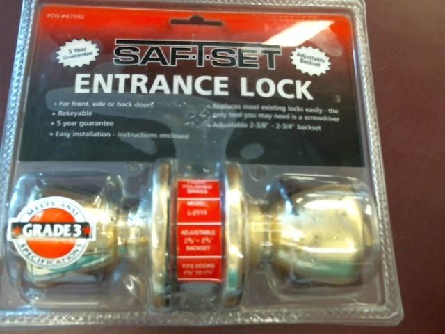SAF-T-SET ENTRANCE LOCK DOOR KNOB