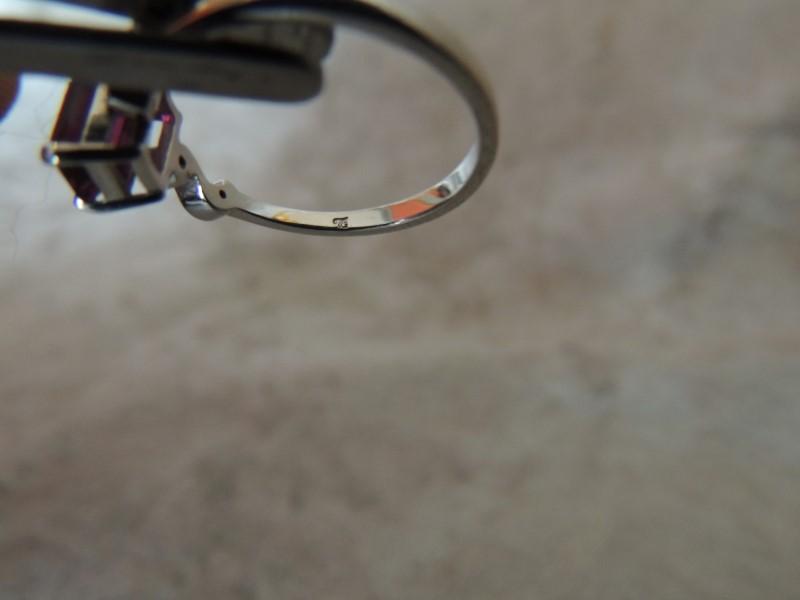 Synthetic Garnet Lady's Stone & Diamond Ring