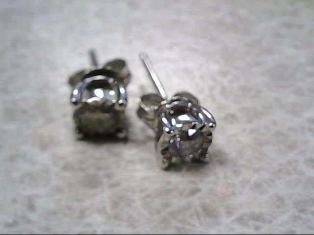Diamond Earrings w 2 Diamonds .40 Carat T.W. 10K White Gold 1.19g