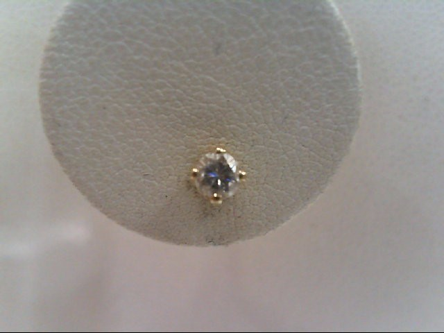 Gold-Diamond Earrings 2 Diamonds .24 Carat T.W. 14K Yellow Gold 0.9g