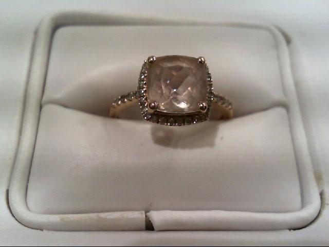 Lady's Diamond Cluster Ring 38 Diamonds .228 Carat T.W. 10K Rose Gold 2.4g