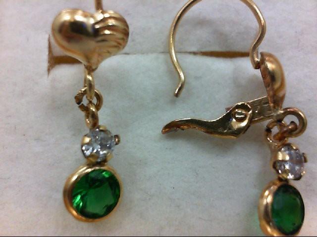 Gold Earrings 18K Yellow Gold 1.2g