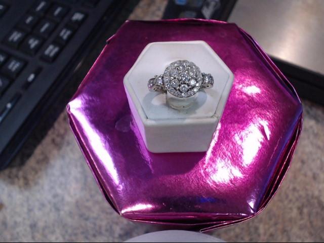 Lady's Diamond Engagement Ring 40 Diamonds 1.53 Carat T.W. 14K Yellow Gold 3dwt