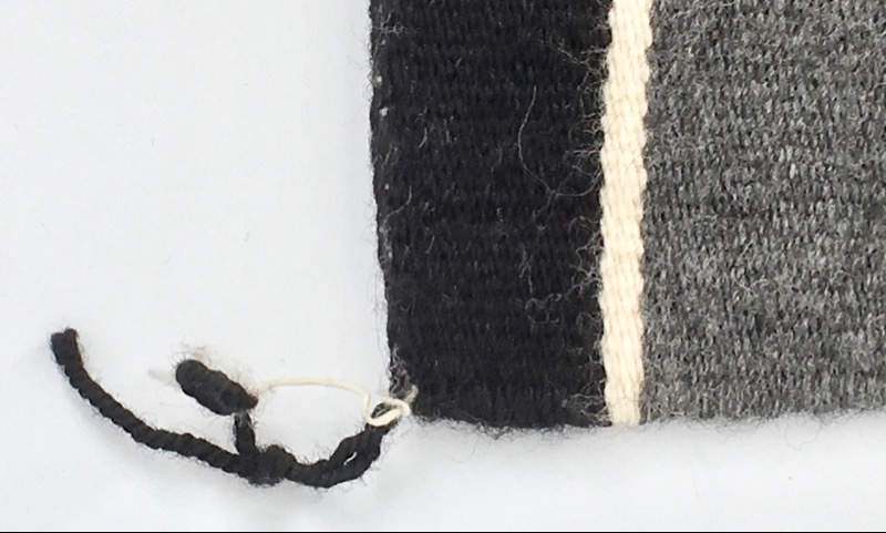 """Small Handcrafted Rug Black/Grey/White 24X30"""""""