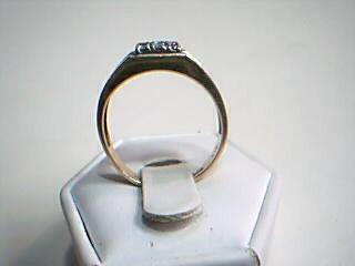 Gent's Diamond Cluster Ring 9 Diamonds .09 Carat T.W. 14K 2 Tone Gold 4.4g