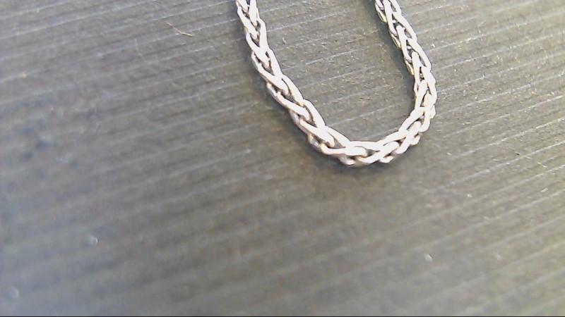 """18"""" Gold Fashion Chain 14K White Gold 3.4g"""