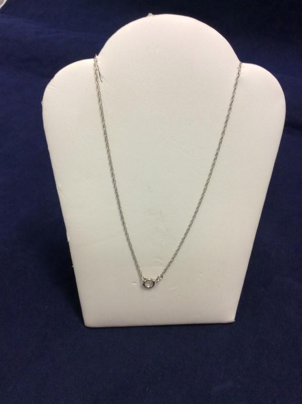 """18"""" Silver Anchor Chain 925 Silver 0.87g"""