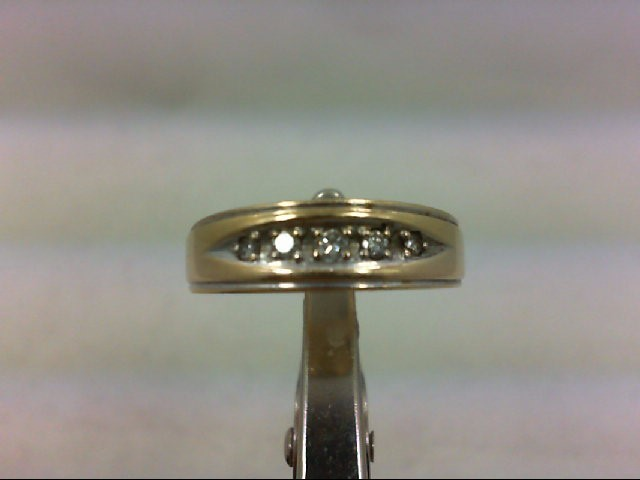 Lady's Diamond Wedding Band 5 Diamonds .09 Carat T.W. 14K Yellow Gold 5g