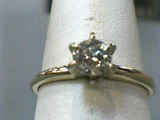 Lady's Diamond Solitaire Ring .46 CT. 14K Yellow Gold 1.2dwt Size:7.3