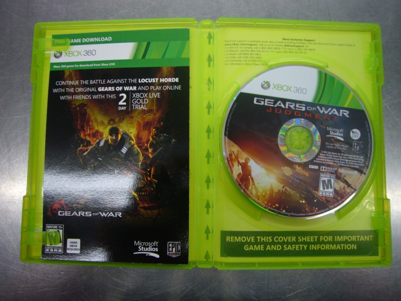 MICROSOFT XBOX 360 Game GEARS OF WAR JUDGMENT