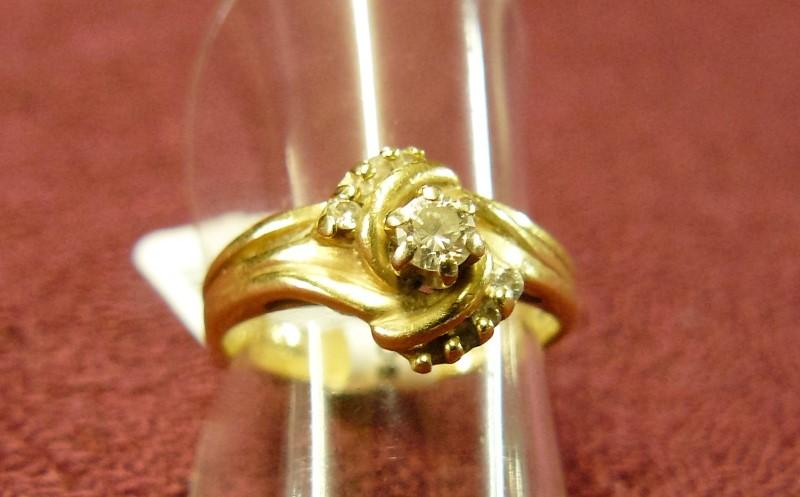 Lady's Diamond Wedding Band 11 Diamonds .20 Carat T.W. 14K Yellow Gold 2.4dwt