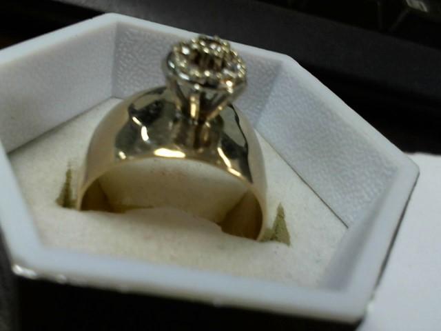 Lady's Diamond Cluster Ring 9 Diamonds .32 Carat T.W. 10K Yellow Gold 6.9g
