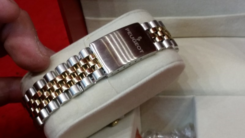 Peugeot Men's 1042TT Two-tone Coin Edge Bezel Watch