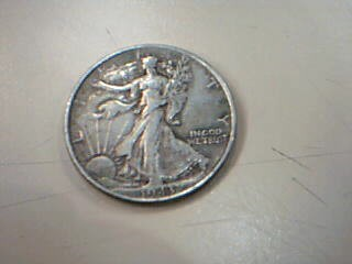 UNITED STATES Silver Coin 1943 WALKING LIBERTY HALF DOLLAR