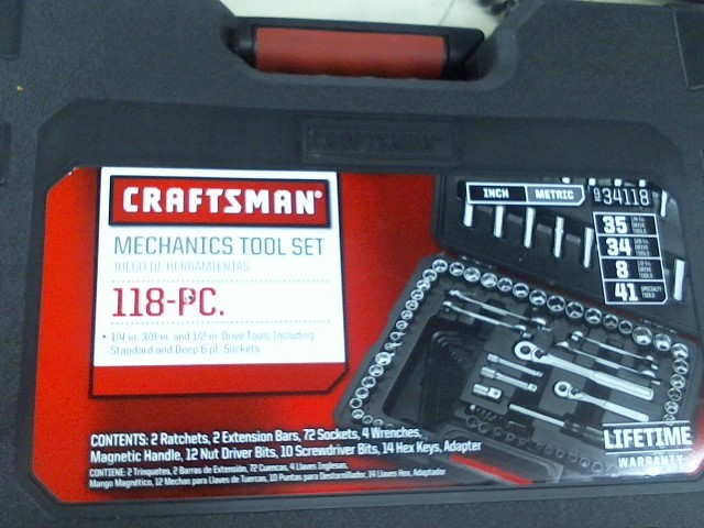 CRAFTSMAN Sockets/Ratchet 118 PC MECHANIC TOOL SET