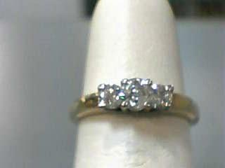 Lady's Gold-Diamond Anniversary Ring 3 Diamonds .47 Carat T.W. 14K Yellow Gold