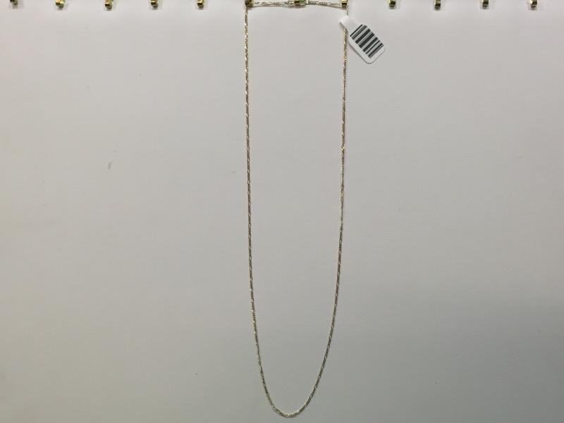 """20"""" Gold Figaro Chain 14K Yellow Gold 1.9g"""
