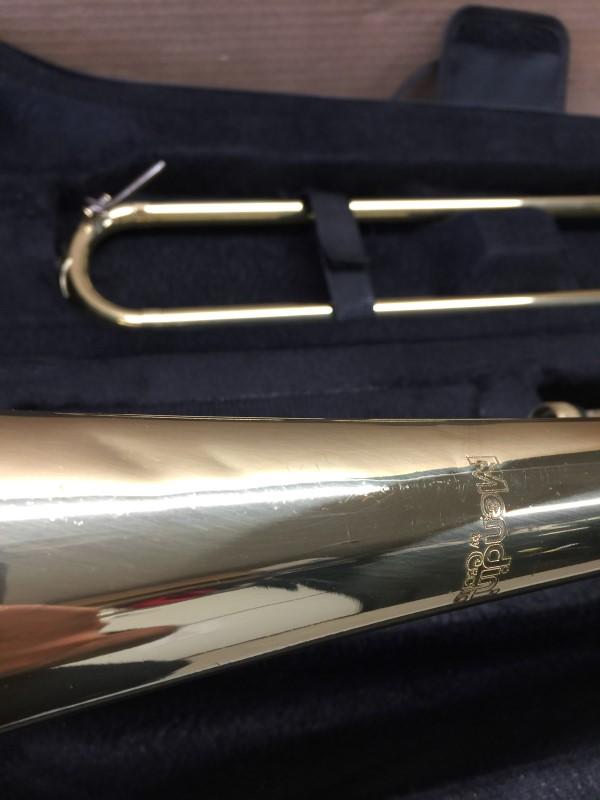MENDINI D MTB-L Lacquer B Flat Tenor Slide Trombone, Gold