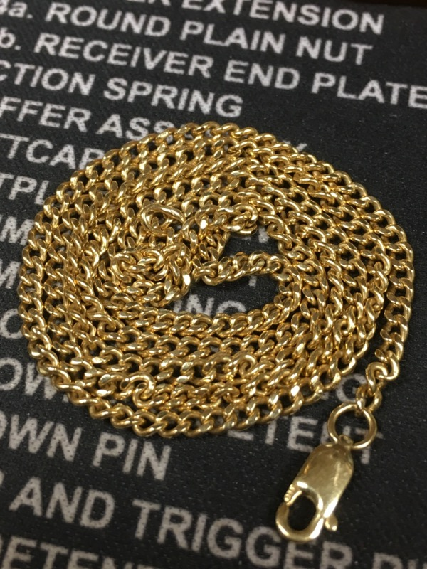 Gold Link Chain 14K Yellow Gold 6.6dwt