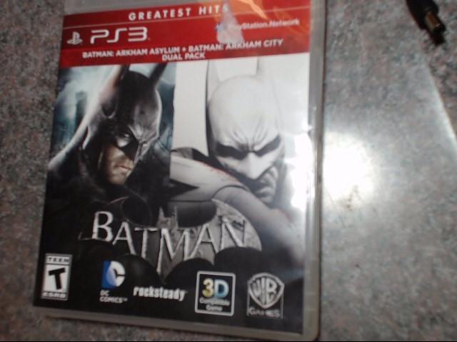 SONY PlayStation 3 Game BATMAN ARKHAM ASYLUM + ARKHAM CITY DUAL PACK