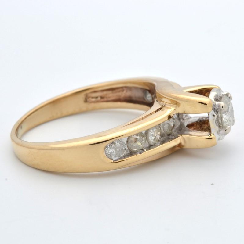 ESTATE DIAMOND RING SOLID 10K GOLD ENGAGEMENT WEDDING BRIDAL SIZE 4