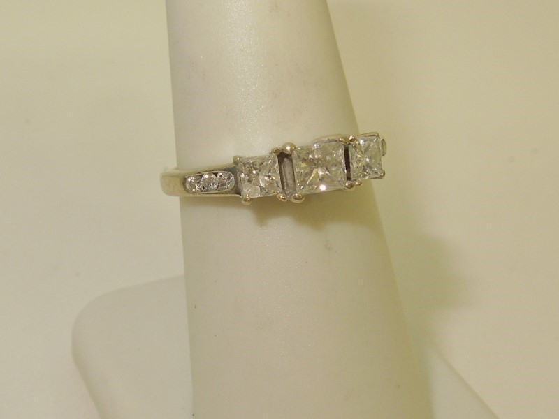 Lady's Diamond Fashion Ring 9 Diamonds .78 Carat T.W. 14K Yellow Gold 3g