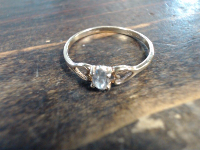 Lady's Gold Ring 10K Yellow Gold 1g Size:7.5