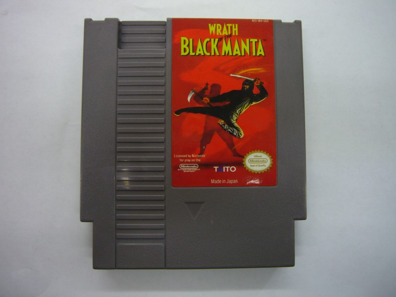 NINTENDO NES Game WRATH OF THE BLACK MANTA *CARTRIDGE ONLY*