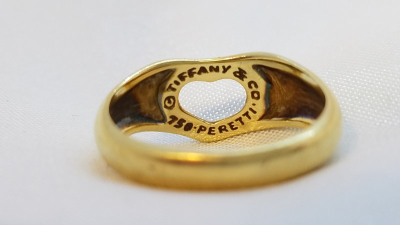 Tiffany & Co. Lady's Gold Ring 18K Yellow Gold 3.6g Size:5