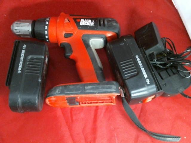 BLACK & DECKER Cordless Drill HPG1800 CORDLESS DRILL