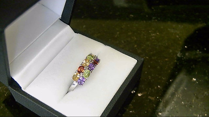 Lady's Assorted Gemstone Silver Ring Size 9 925